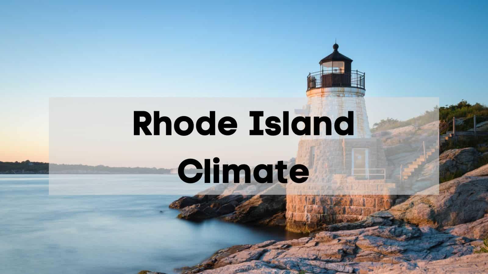 rhode island climate
