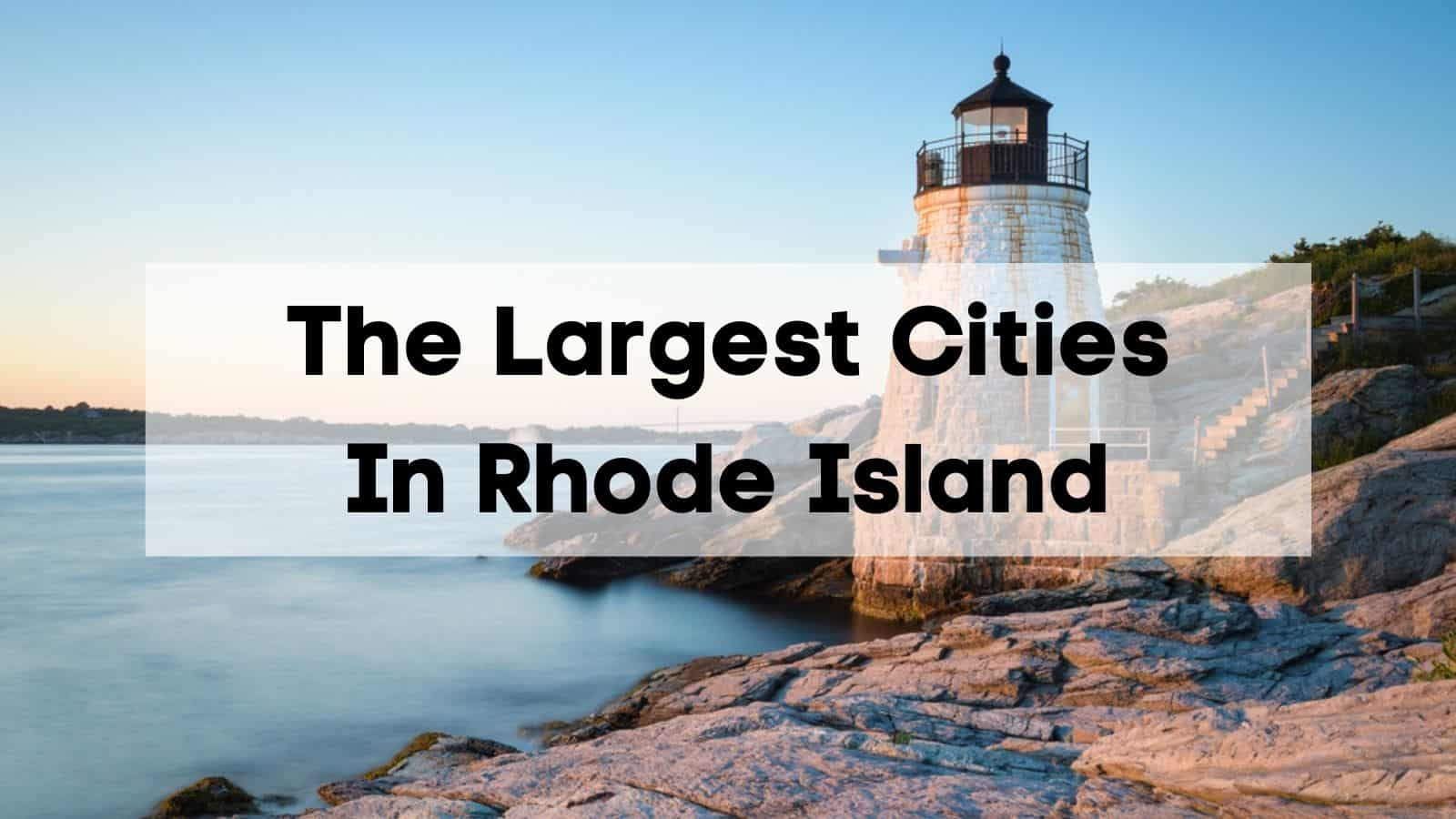 largest cities in rhode island